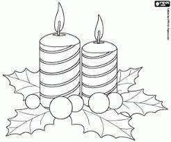 dibujos navideñas para colorear juegos de velas navideñas para colorear imprimir y pintar