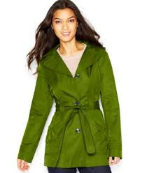 laundry design coat laundry by design faux leather trim hooded toggle front jacket