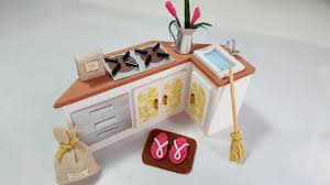 miniature dollhouse kitchen furniture 3 diy miniature dollhouse kitchen stand diy miniatura de casinha