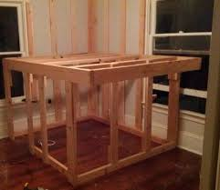 diy elevated kids bed frame with storage area removeandreplace com