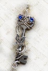 vintage key pendant necklace images Antique skeleton key necklace wire wrapped skeleton key necklace jpg