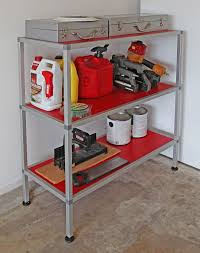 cool garage shelf made with 80 20 quick frame aluminum profiles