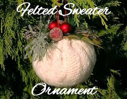 upcycled stuff diy sweater ornament day 4 of 12