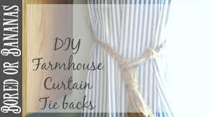 Drapery Tassel Tiebacks Diy Farmhouse Decor Tassel Curtain Tie Backs Youtube