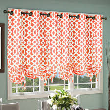 Orange Kitchen Curtains by Thermalogic Trellis Tie Up Curtain Single Panel U0026 Reviews