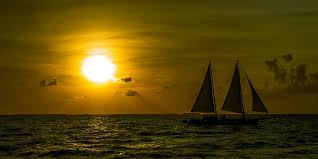 two person on boat at sunset hd wallpaper wallpaper flare