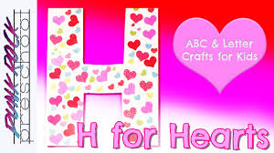 letter h for hearts fun preschool crafts for kids best