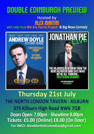 andrew doyle u0026 jonathan pie double preview tickets london