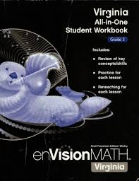 virginia all in one student workbook grade 3 envision math scott