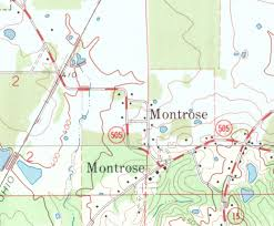 Montrose Colorado Map by Mississippi Rails