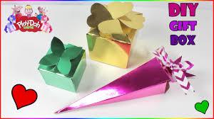 metallic gift box how to make a gift box diy cardboard boxes metallic paper