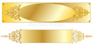 gold name plates gold nameplates stock vector illustration of executive 12730856