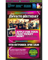 a5 birthday party psd flyer template u2039 psdbucket com
