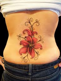 back tattoos ideas cute lily flower tattoo for girls on back tattoo ideas pictures