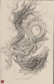 artstation chinese dragon sketch zhelong xu