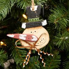 primitive rustic snowman ornament ornaments