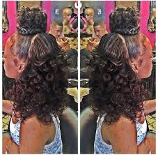 Half Up Half Down Hairstyles Black Hair 101 Best Half U0026 Half Hairstyles Images On Pinterest Weave
