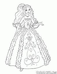 coloring page barbie goes to the ball