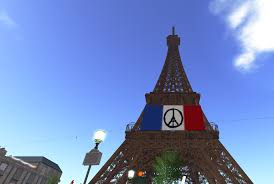 Paris Flag Standing For Paris In Second Life Second Sighting