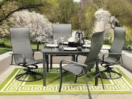 Homecrest Holly Hill by Homecrest Kashton Sling Aluminum Dining Set Kashdin1