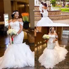 wedding dresses plus sizes mermaid wedding dresses plus size shoulder 2018