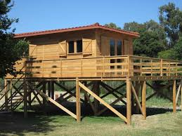 holiday home on stilts suspended wood structure youtube