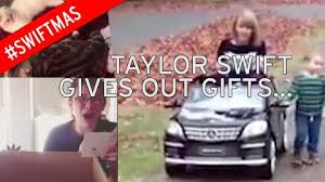 gifts for taylor swift fans watch taylor swift fans react to her personal christmas gifts in