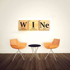 wine periodic table wooden tile wall art with quote periodic