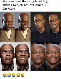 Samuel L Jackson Pulp Fiction Meme - my new favorite thing is adding smiles to pictures of samuel l