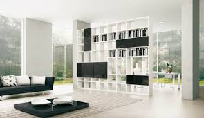 white high gloss bookcase square brown high gloss wood coffe table minimalist interior