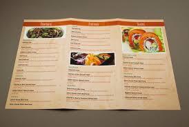 japanese restaurant menu design brochure pinterest