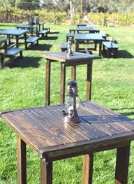 cocktail table rental rentals rustic events