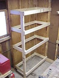 Woodworking Plans Garage Shelves by Sheet Goods Storage Rack For Storing Plywood And Drywall Etc