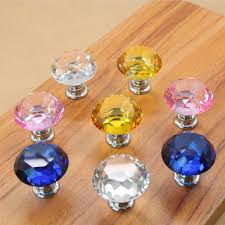 online buy wholesale crystal cabinet pulls from china crystal 20pcs lot crystal glass cabinet knob 30mm diamond shape drawer cabinet pulls china