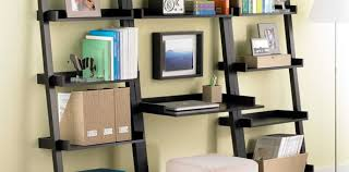 Leaning Bookshelf With Desk Java Linea Leaning Bookcase The Container Store Desk With