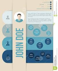 Blue Shades Modern Cv Curriculum Vitae Resume Template In Blue Shades Stock