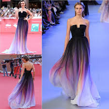 famous celebrity dresses lily collin strapless 2016 elie saab
