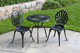 Wrought Iron Patio Bistro Set Stunning Metal Patio Furniture Sets Aluminum Versus Wrought Iron