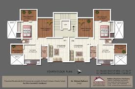 abhimanshree floor plans project 3d views in sangli fourth floor plan