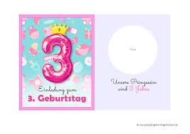 sprüche zum kindergeburtstag einladung 3 geburtstag ausdrucken und selber basteln