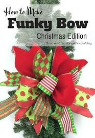 christmas ribbons and bows use scraps of ribbon to create a funky bow hometalk