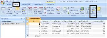 membuat query tabel cara membuat query dalam microsoft access belajar microsoft office