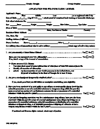 chatham county ga weapons license