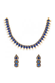 necklace blue stone images Blue stone indian necklace set for women jpg