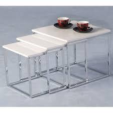 white nest of tables stefan high gloss white nesting tables 5568 furniture in