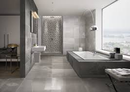 moderne badezimmer fliesen grau großformate