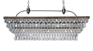 Traditional Chandeliers The Weston 40 Inch Rectangular Glass Drop Crystal Chandelier