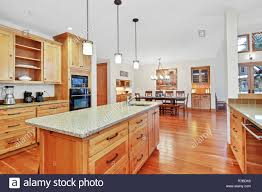 light wood kitchen cabinets with black countertops amazing kitchen with light wood cabinets granite counter