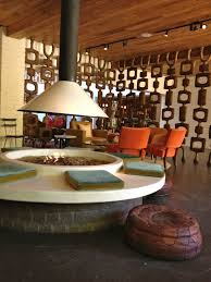 Indoor Firepit Taking The Idea On Indoor Pit And Style Of The Room Divider