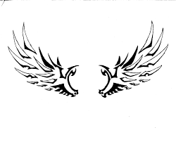 simple wings drawing free clip free clip